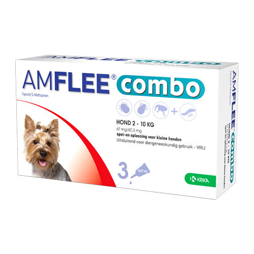 Amflee Combo Spot-on - Chien - 67 mg (2-10kg) - 3 pipettes