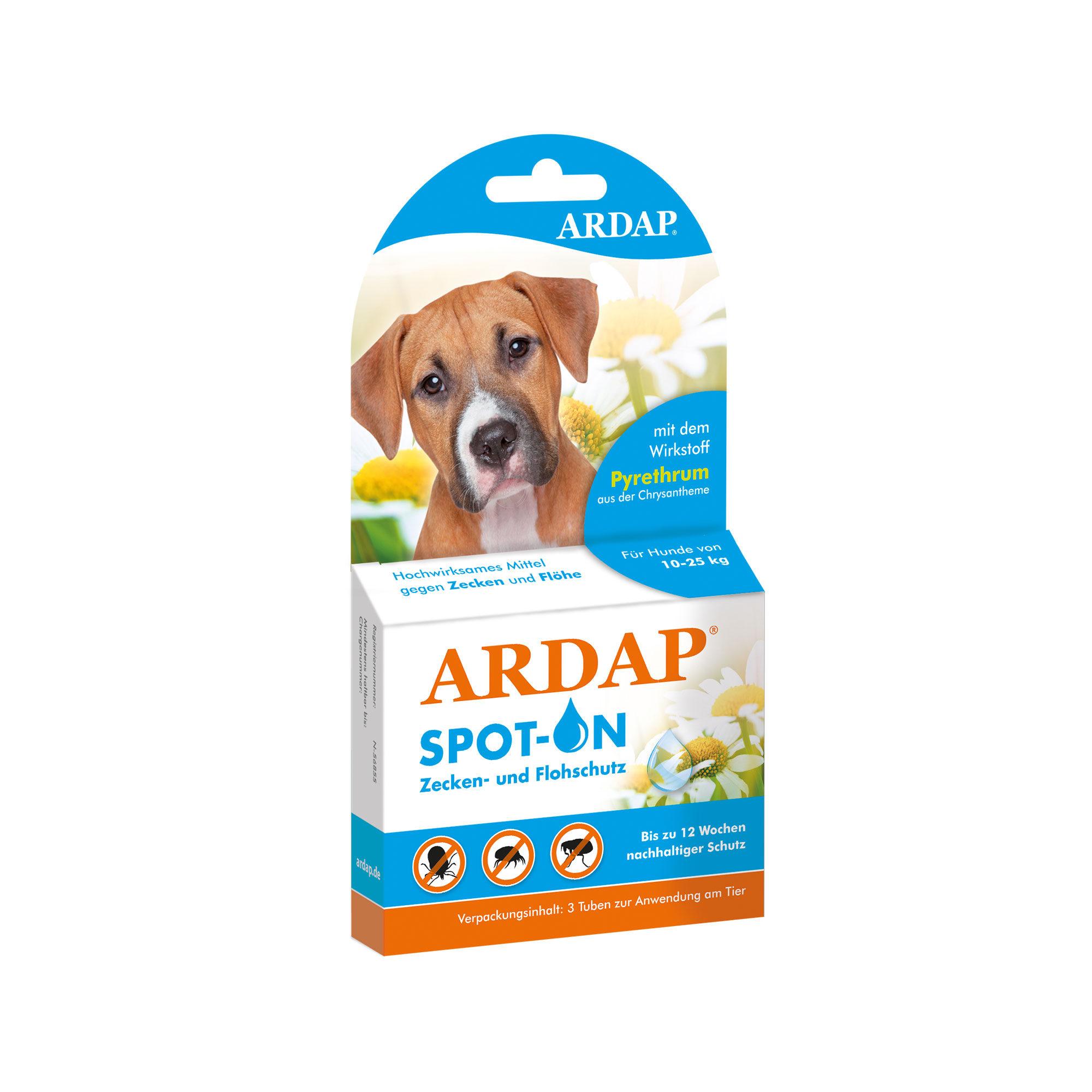 Ardap Spot-On für Hunde von 10 - 25 kg