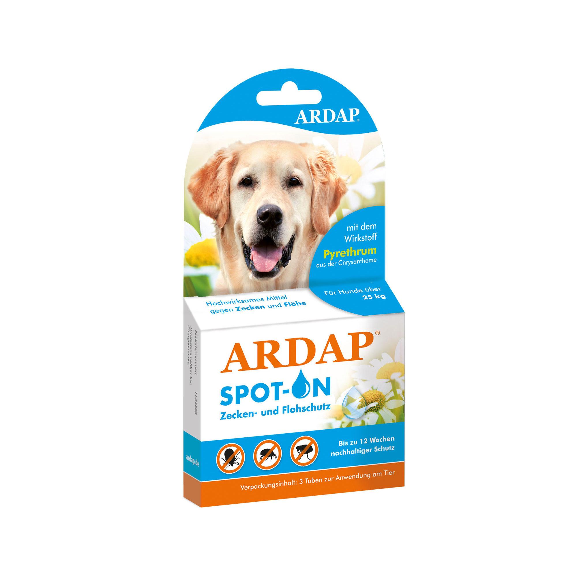 Ardap Spot-On für Hunde über 25 kg - 3 x 4 ml