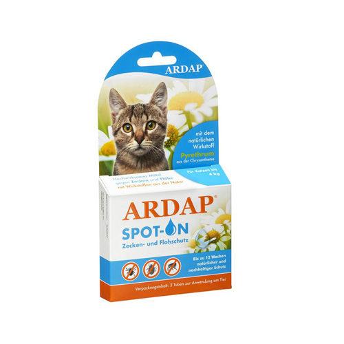 Ardap Spot-On für Katzen < 4 kg - 3 x 0,4 ml