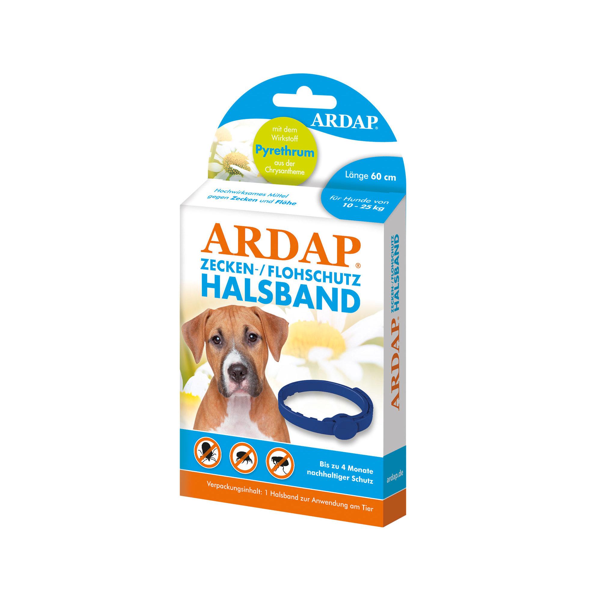 Ardap Zecken- & Flohhalsband für Hunde 10 - 25 Kg - 60 cm