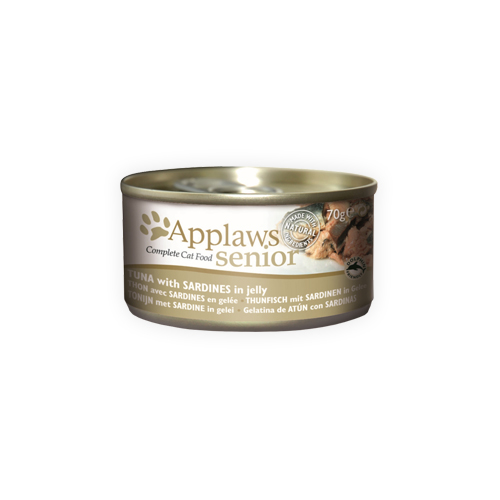 Applaws Senior Katzenfutter - Dosen - Tuna & Sardines - 24 x 70 g