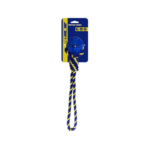 Petsport Braided Knot Tug with TPR Ball