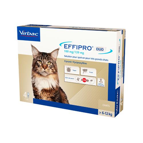 Effipro DUO - Spot-on pour chat de plus de 6 kg