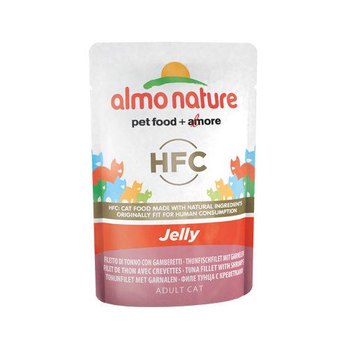 Almo Nature HFC Jelly - Filet de thon et crevette - Sachet - 24 x 55 g