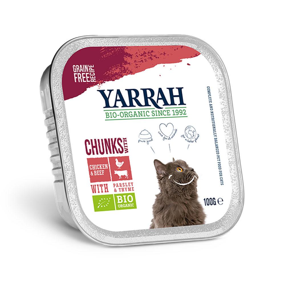 Yarrah Bio Chunks - Barquette - Poulet et Bœuf avec persil et thym