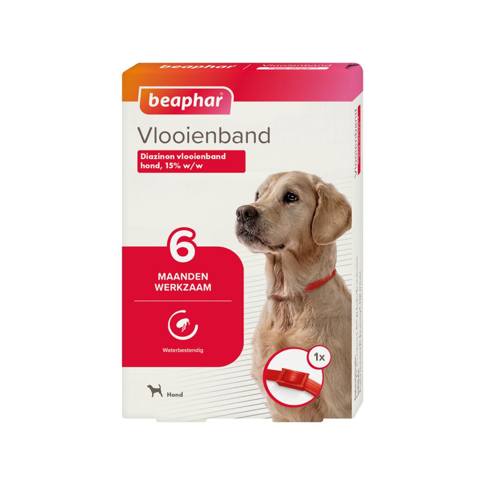 Beaphar - Collier anti puce pour chien- 6 mois - Rouge