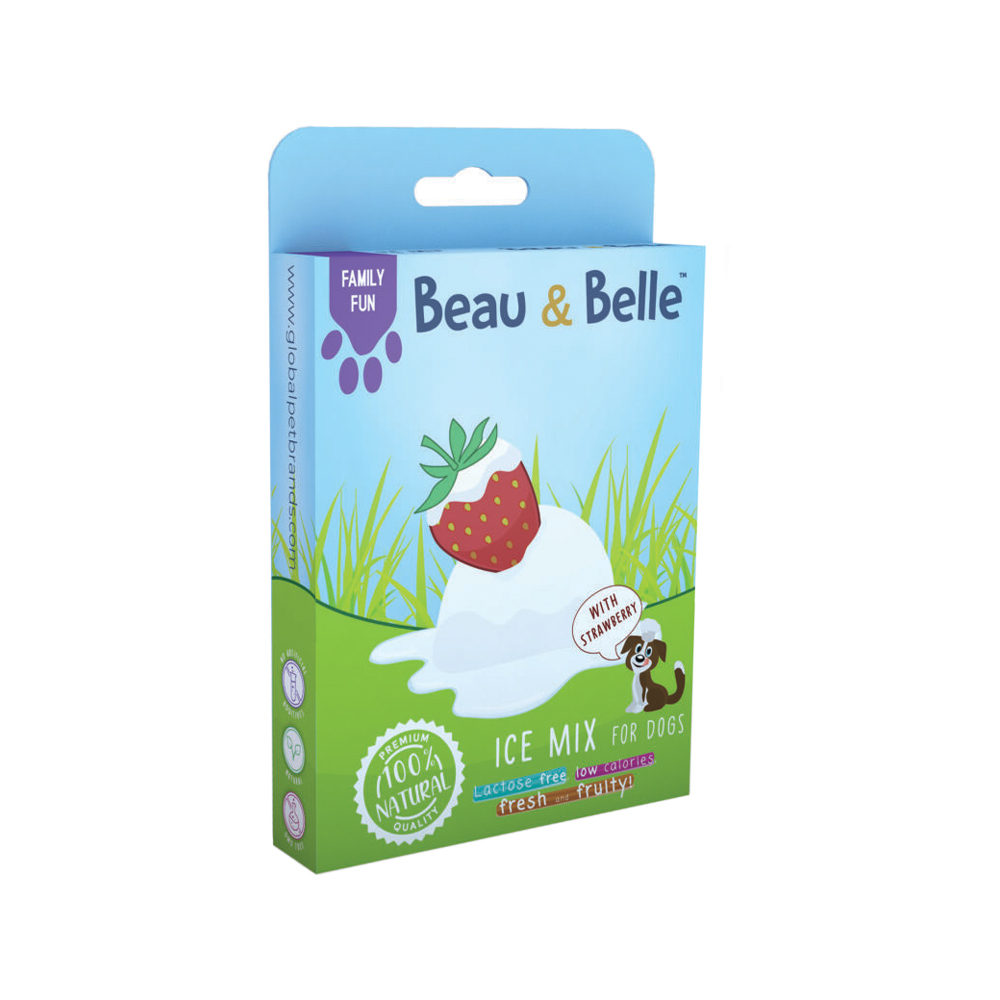 Beau & Belle - Family Fun - Ice Mix - Strawberry - 100 g
