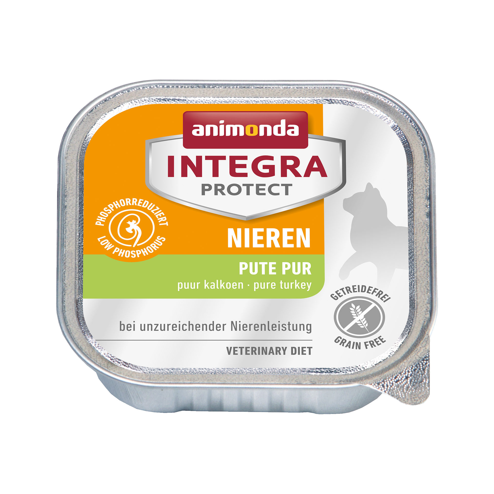 Animonda Integra Protect Nieren Katzenfutter - Schälchen - Pute - 16 x 100 g