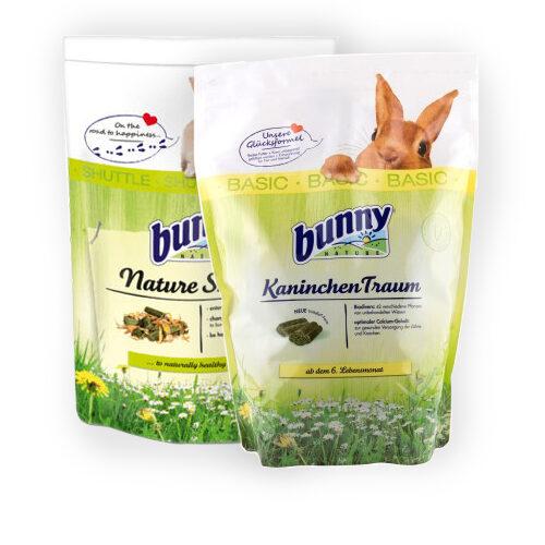 Bunny Nature Shuttle - Lapin (600 g) + Bunny Nature - Lapin - Dream Basic (750 g)