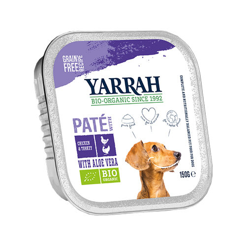 Yarrah Multipack Bio Paté Hundefutter - Schälchen - Huhn & Pute