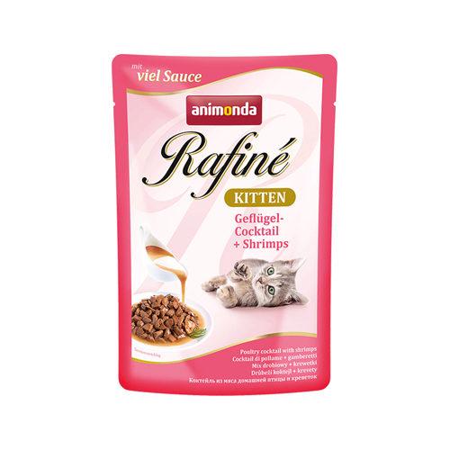 Animonda Rafiné Soupé Kittenfutter - Frischebeutel - Geflügel & Garnelen - 12 x 100 g