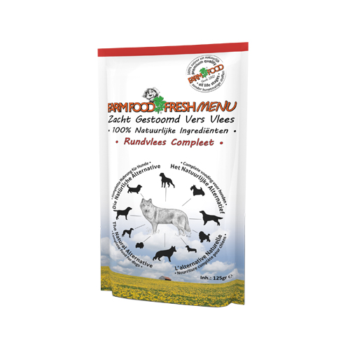 Farm Food Fresh Menu Komplett Hundefutter - Frischebeutel - Rind