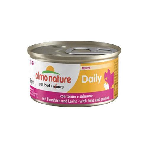 Almo Nature Daily Menu Mousse Katzenfutter - Dosen - Thunfisch & Lachs - 24 x 85 g