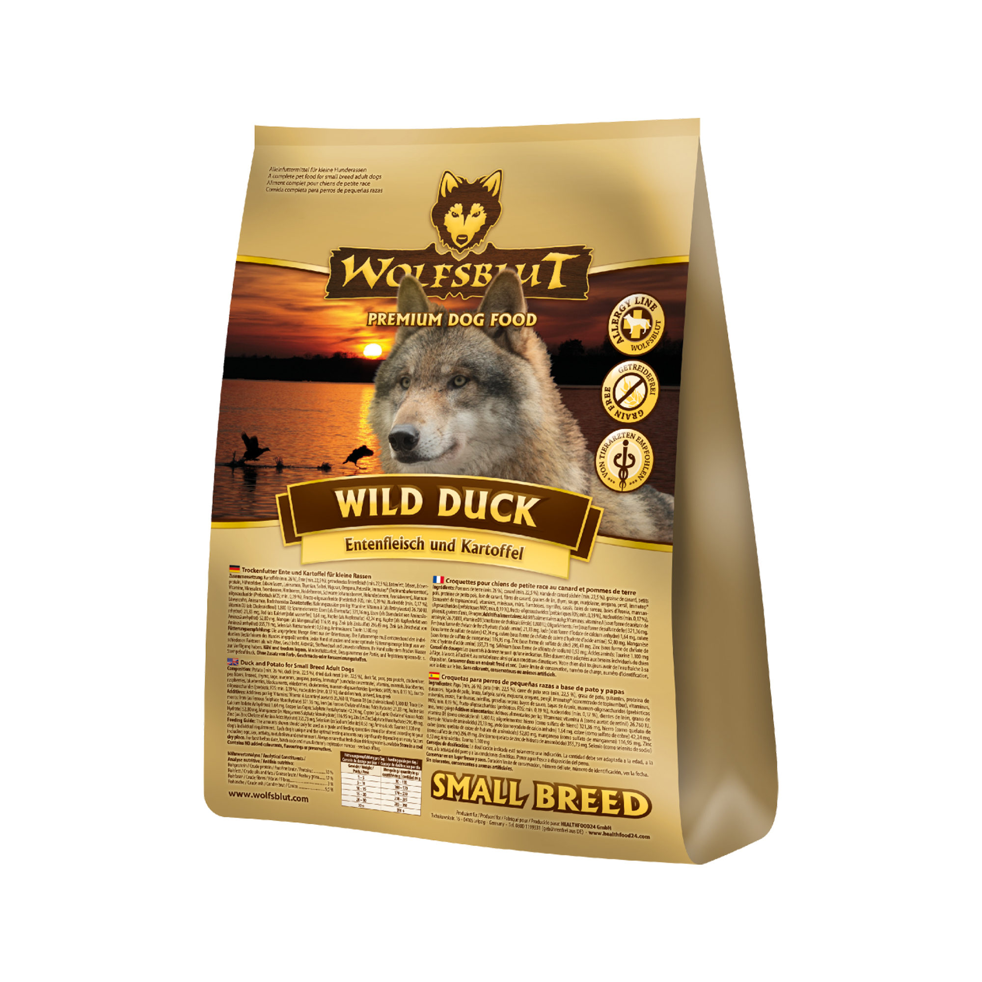 Wolfsblut Wild Duck Small Breed Hundefutter