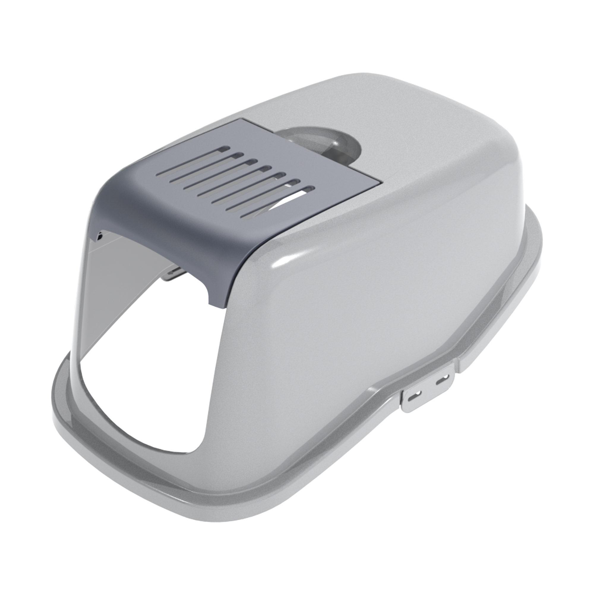 PeeWee EcoDome Katzentoilette Klappe (Inklusive Filterdeckel) - Grau