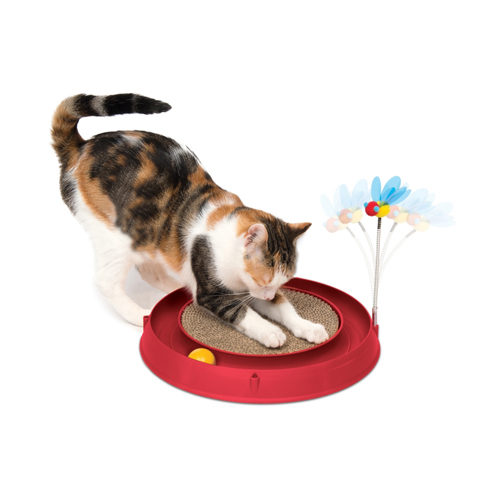 Catit Play Katzenspielzeug mit Kratzfläche