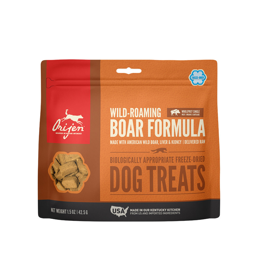 Orijen Dog Treat Freeze Dried - Wild-Roaming Boar