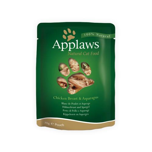 Applaws in Broth Katzenfutter - Frischebeutel - Chicken Breast & Asparagus