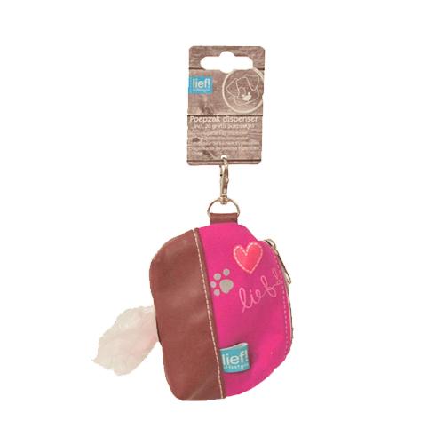 lief! Girls  - Distributeur de sacs à déjection pour chien - Rose