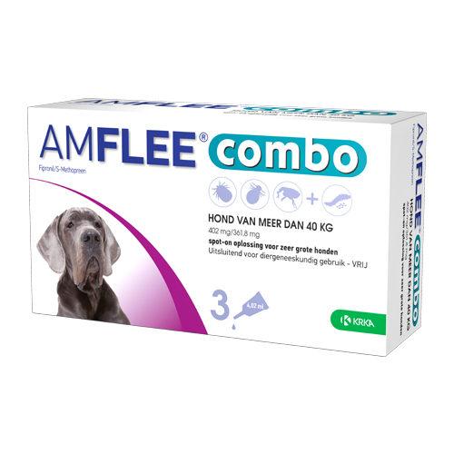 Amflee Combo Spot-on Hund 402 mg - mehr als 40 kg - 3 Pipetten