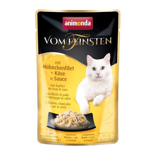 Animonda Vom Feinsten Katzenfutter - Frischebeutel - Hühnchenfilet & Käse