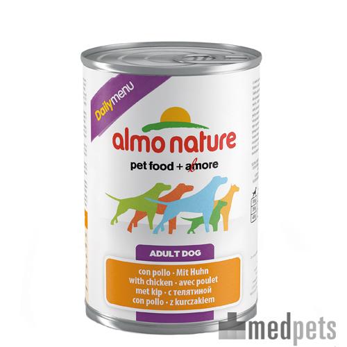 Almo Nature Daily Menu Paté Hundefutter - Dosen - Huhn - 24 x 400 g