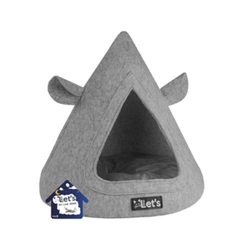 Let's Sleep Pet Cave TeePee - Grau