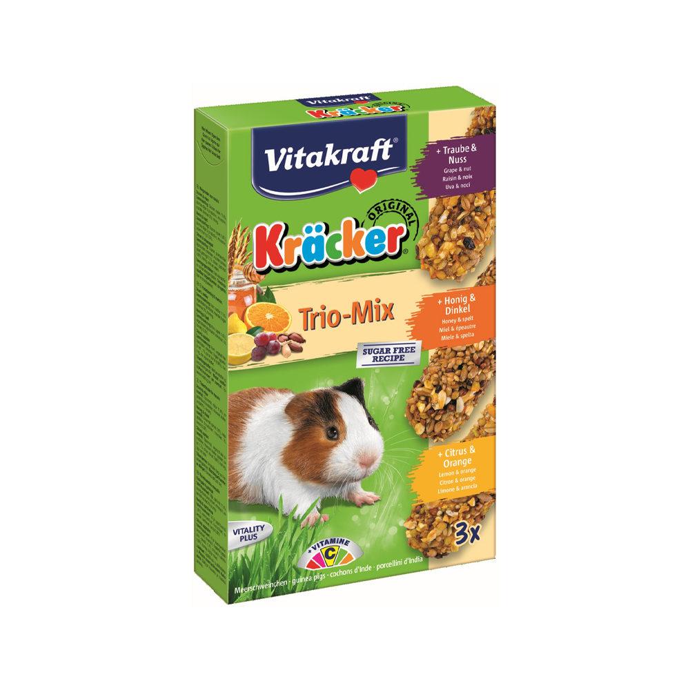 Vitakraft Kräcker - Cochon d'Inde - Trio-Mix Miel / noix / agrumes