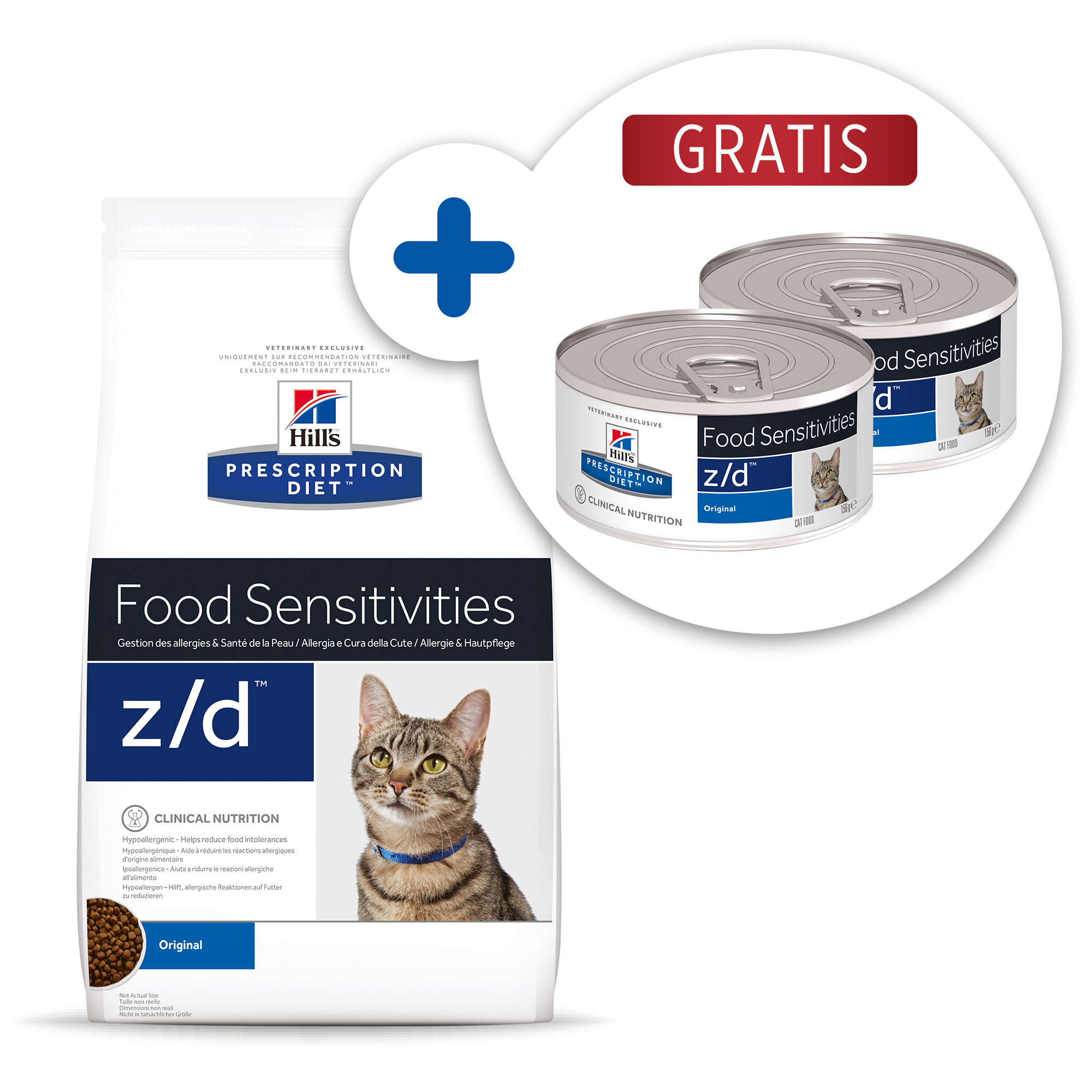 Hill's Prescription Diet z/d Food Sensitivitie Katzenfutter - Dosen