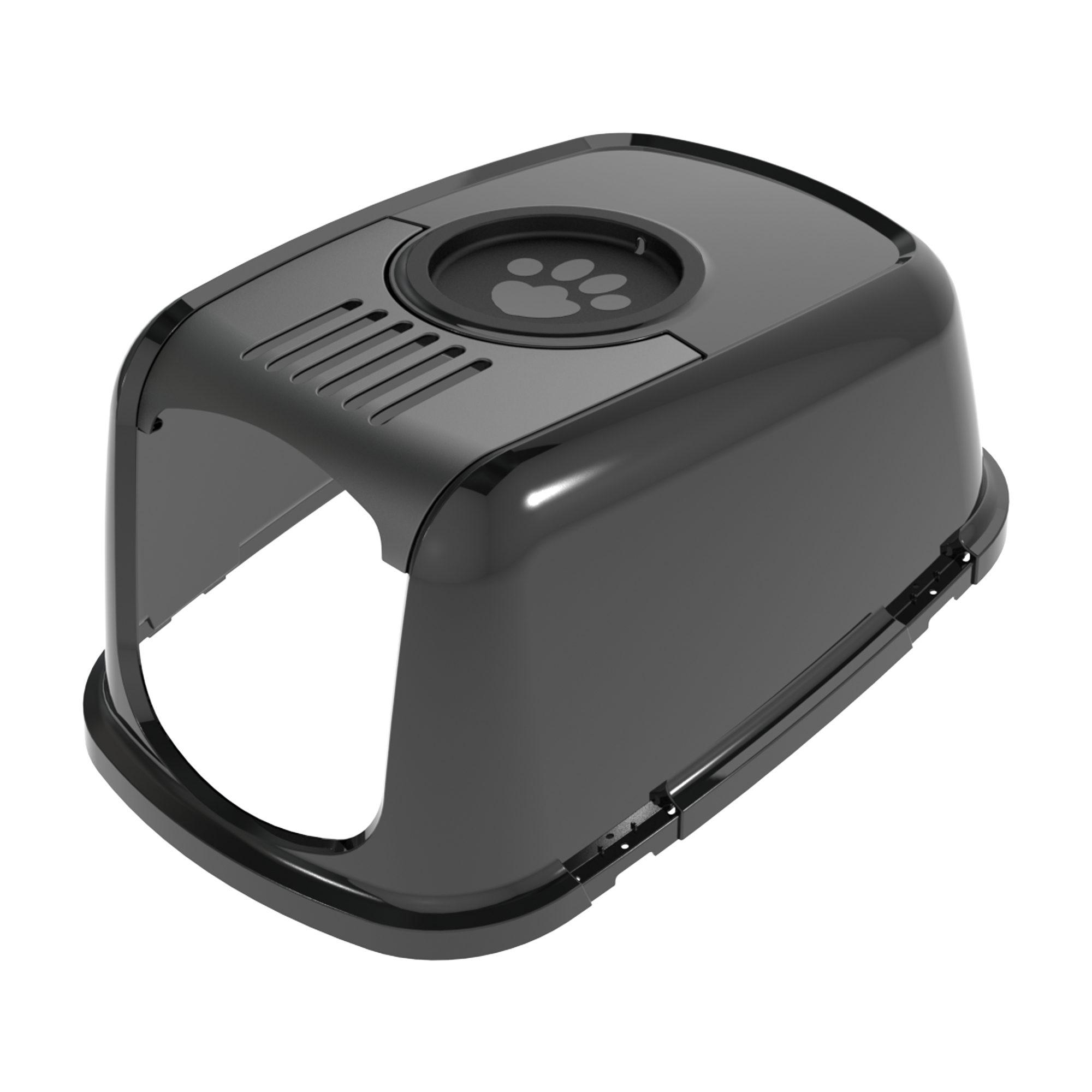 PeeWee EcoDome - Bac à litière pour chat - Clapet (dont Couvercle pour filtre) - Noir