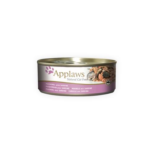 Applaws Katzenfutter - Dosen - Mackerel & Sardine - 24 x 70 g