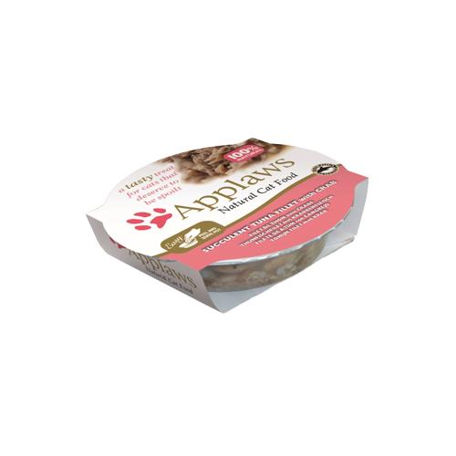 Applaws Pots - Filet de thon et crabe - Barquette - 10 x 60 g