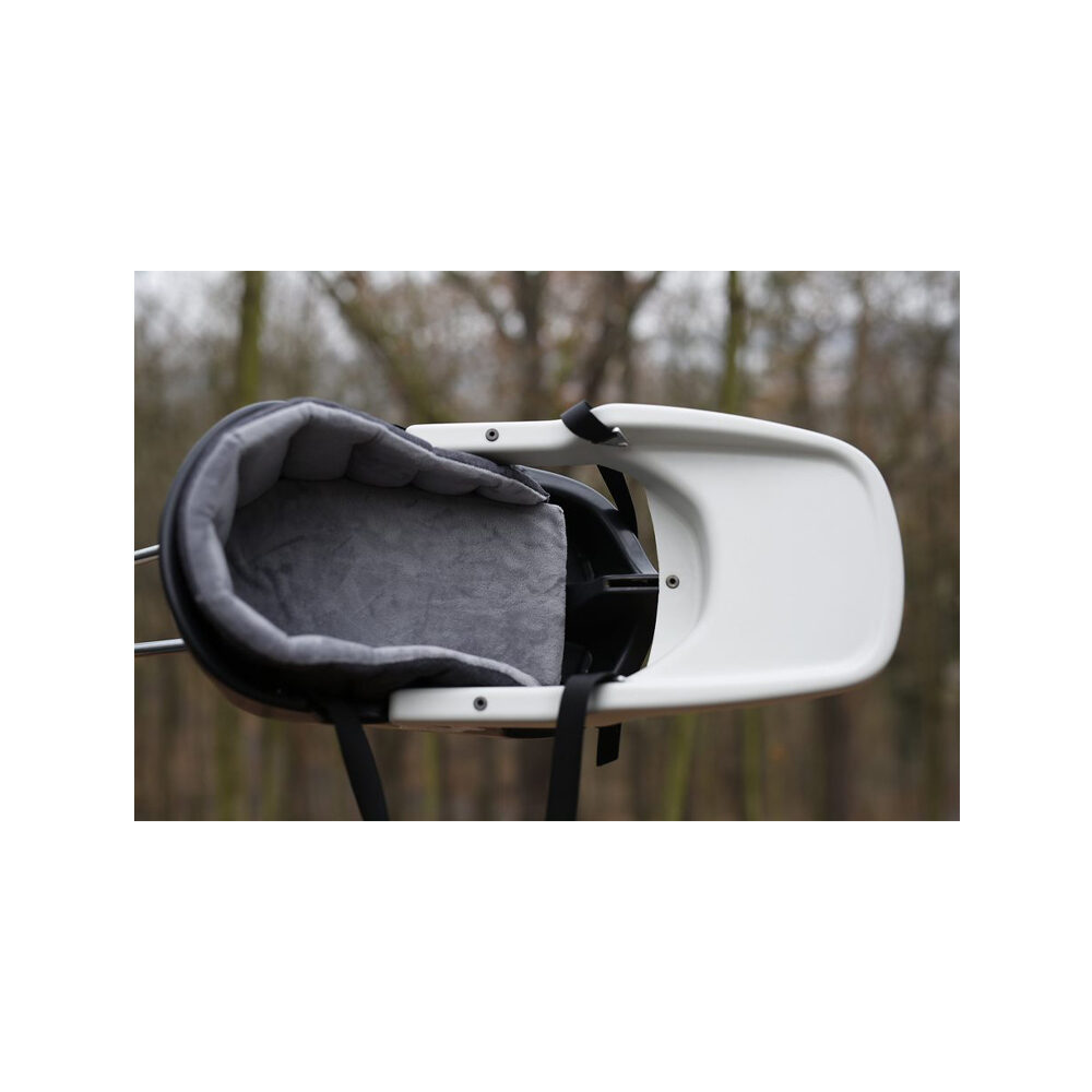Dogrider Dog Seat + Korb - Grau