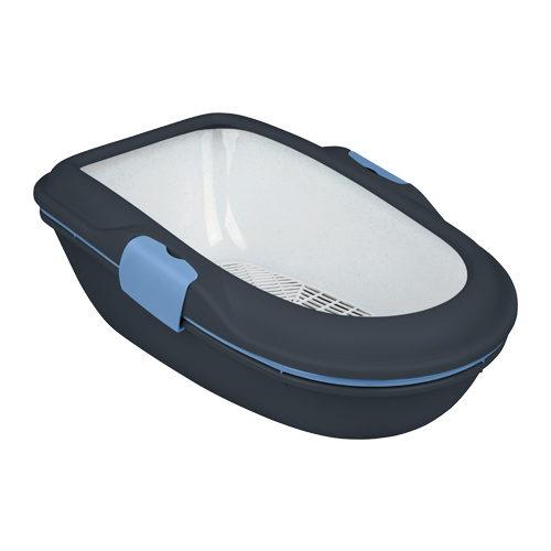 Trixie - Litière pour chat - Berto - Anthracite / bleu clair