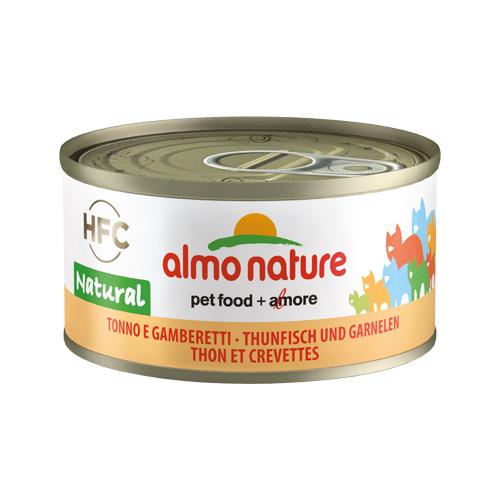 Almo Nature HFC 70 Natural Katzenfutter - Dosen - Thunfisch & Garnelen