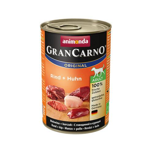 Animonda GranCarno Original Adult Hundefutter - Dosen - Rind & Huhn - 6 x 400 g