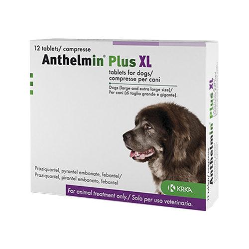 Anthelmin Plus XL (mehr als 17,5 kg) - 12 Tabletten