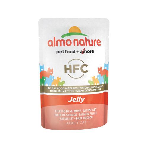 Almo Nature HFC Jelly Katzenfutter - Frischebeutel - Lachs - 24 x 55 g