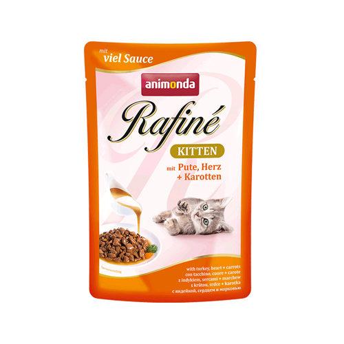 Animonda Rafiné - Chaton - Sachet - cœur de dinde et crevette - 12 x 100 g