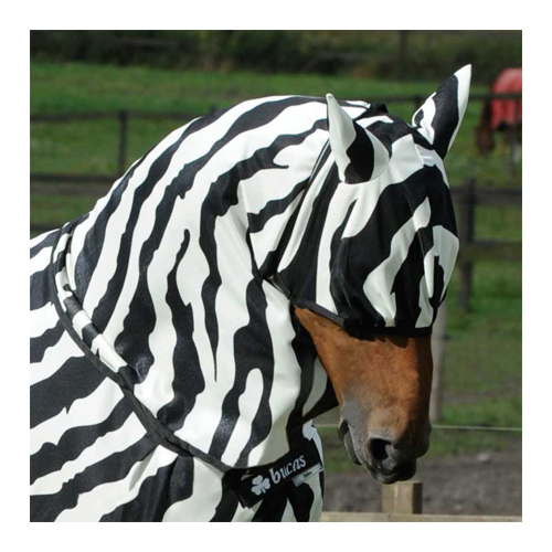 Bucas Buzz Off Zebra Fly Mask - L