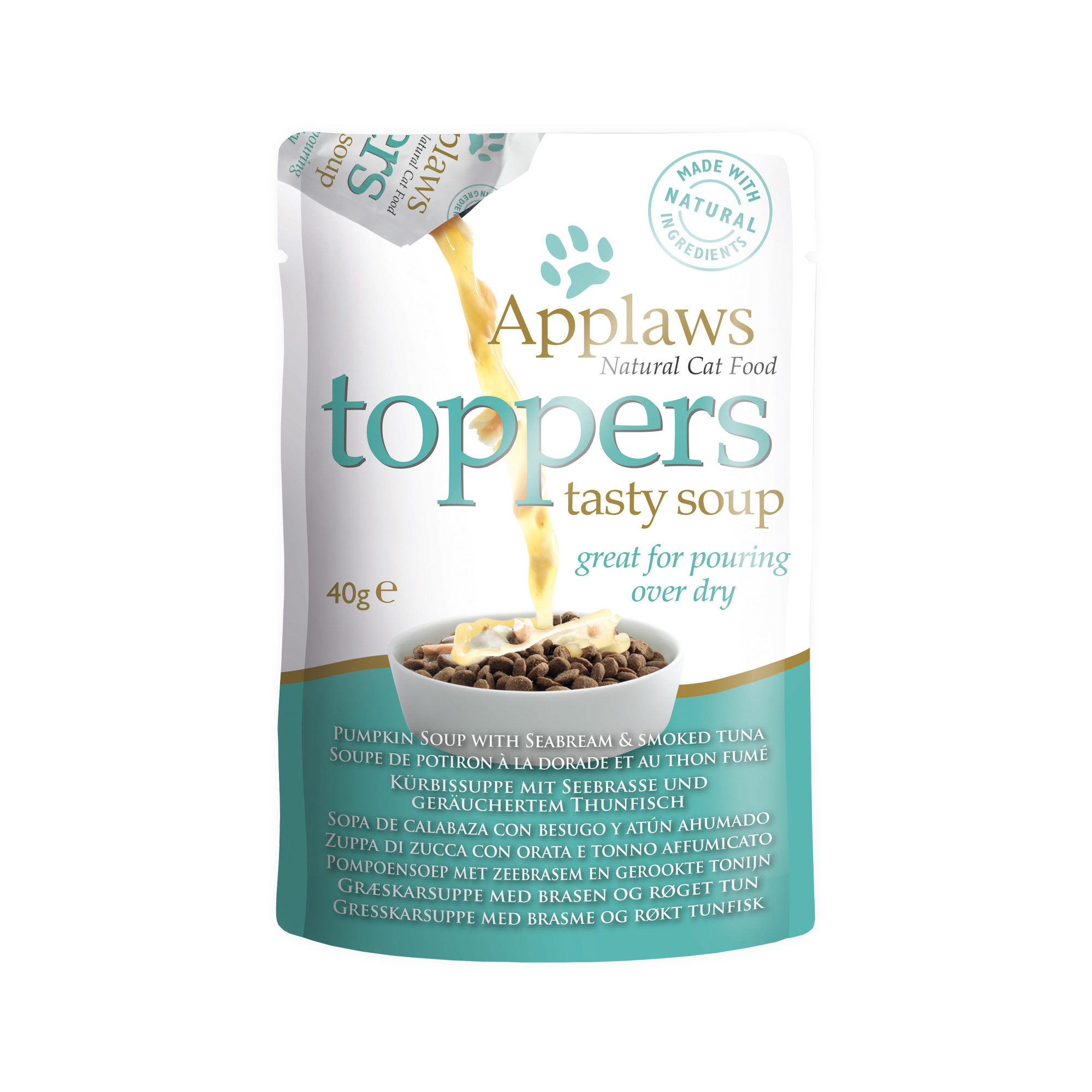 Applaws Toppers Tasty Soup Katzenfutter - Frischebeutel - Seabream & Tuna