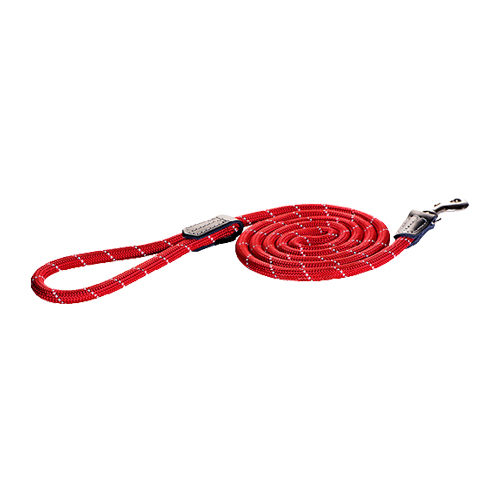 Rogz Rope Line Fixed Lead - Rouge