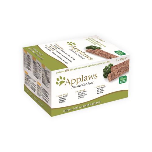 Applaws Paté - Poulet, agneau et saumon - Boîte - 7 x 100 g