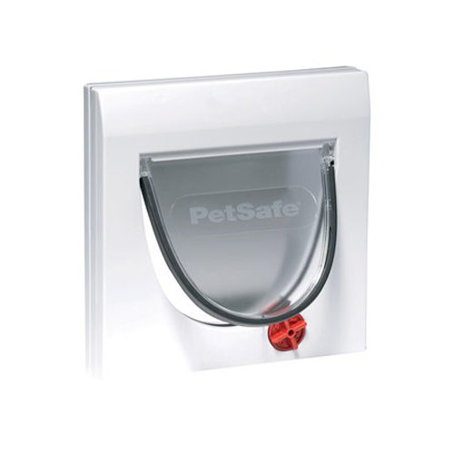 PetSafe Katzenklappe Staywell Classic mit Verlängerungsstück - Weiß