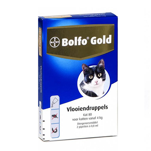 Bolfo Gold Chats 80 - 2 pipettes
