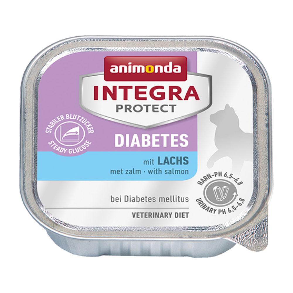 Animonda Integra Protect Diabetes Katzenfutter - Schälchen - Lachs - 16 x 100 g