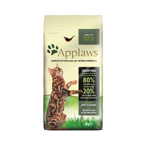 Applaws Adult Katzenfutter - Huhn & Lamm - 2 kg