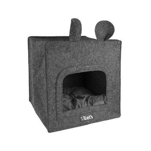 Let's Sleep Pet Cave Chunk - Anthrazit