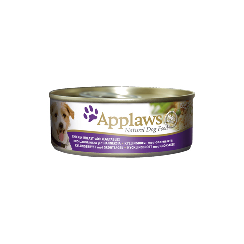 Applaws Hundefutter - Dosen - Chicken & Vegetables with Rice - 12 x 156 g